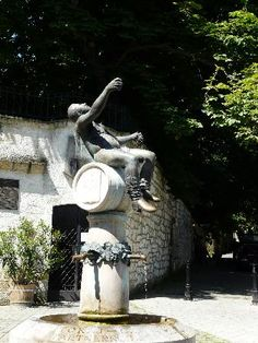 A statue of Bacchus, the Roman god of wine, in Tokaj, Northeastern Hungary