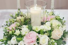 Wedding wreath with candle - Wedding decor - Wedding centerpiece FLORIMI www.florimi.cz
