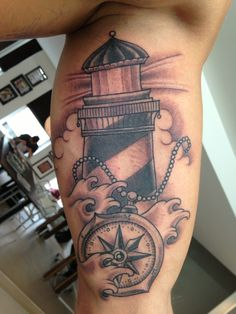 Lighthouse Tattoo, without compass?!