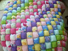 I so want one...different colors and minky on the back!!!   bubble quilt. $75.00, via Etsy.