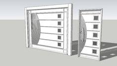 Resultado de imagem para portão basculante Welding Works, Grill Gate, Iron Gate Design, Main Gate, Iron Gates, Beautiful Homes, Household, House Design, Doors