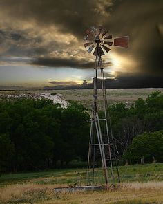 Sunset Windmill - By share moments
