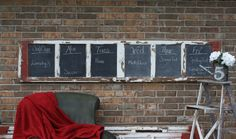 Chalkboard made from a Vintage Garage Door. $750.00, via Etsy.