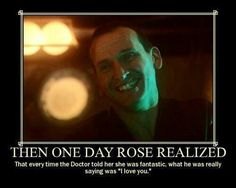 Oh, here come the feels. Omg rose Tyler & doctor 9 & Wanna go back & watch them & rose lol Doctor Who, Ninth Doctor, Rose Tyler, Fandoms Unite, Rose And The Doctor, Out Of Touch, Don't Blink, Geek Out, Dr Who