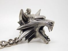 The Witcher medallion of wolf head for necklace from geralt of rivia the witcher game Silver plated school epic
