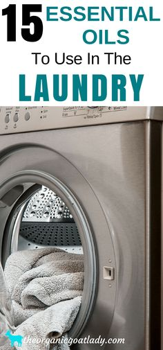 15 Essential Oils To Use In The Laundry, Essential Oil Cleaner Ideas, Aromatherapy Recipes, Essential Oil Recipes, Essential Oils In The Washing Machine, Essential Oils In The Dryer