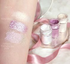 MAC Pigments Swatches | Kitchmas, Vanilla & Reflects Transparent Pink Glitter lovecatherine.co.uk Instagram catherine.mw xo