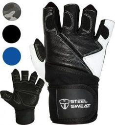 """""""Steel Sweat Weightlifting Gloves - 18 inch Wrist Wrap Support for Workout, Gym and Fitness Training - Best for Men and Women Who Love Weight Lifting - Leather ZED Medium -"""" Best Weight Lifting Gloves, Weight Lifting Workouts, Weight Training, Fun Workouts, Gym Gloves, Workout Gloves, Workout Gear, Sweat Workout, Crossfit"""