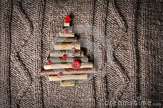 Christmas Warm Knitted Background With New Year Tree Decorations Made Of Sticks. Vintage Christmas Card With Handmade Christmas Tr - Download From Over 50 Million High Quality Stock Photos, Images, Vectors. Sign up for FREE today. Image: 47740352