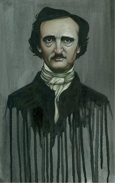 Edgar Allan Poe painting by Kevin Eslinger