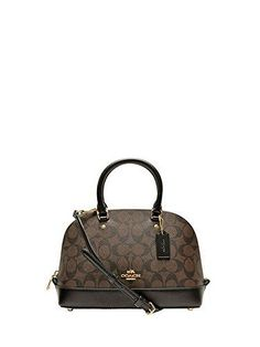 Now available in our Dollar Bender online store. Coach F58295 Mini...     http://www.dollarbender.com/products/coach-f58295-mini-sierra-satchel-brown-black-signature-crossbody-handbag?utm_campaign=social_autopilot&utm_source=pin&utm_medium=pin  #fashion #jewelry #accessories #style #beauty