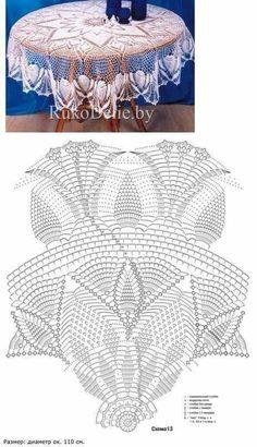 Diy Crafts - CROCHET,doilies-Crochet Doily Crochet Doilies Gehäkeltes Haubendiagramm So what will be different, ladies, if you say how these knitt Débardeurs Au Crochet, Crochet Patron, Crochet Round, Crochet Home, Thread Crochet, Filet Crochet, Crochet Tablecloth Pattern, Free Crochet Doily Patterns, Crochet Doily Diagram