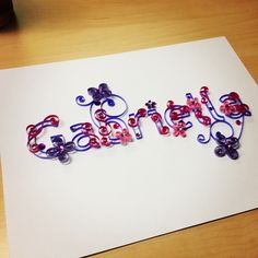 Quilled name  www.jgacreations.com