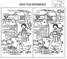spot the difference worksheets for kids coloring pages printable and coloring book to print for free. Find more coloring pages online for kids and adults of spot the difference worksheets for kids coloring pages to print. Spot The Difference Printable, Spot The Difference Puzzle, Puzzles For Kids, Worksheets For Kids, Coloring Pages For Kids, Coloring Books, Kids Coloring, Find The Difference Pictures, Colegio Ideas