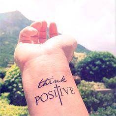 Think-positive-wrist-tattoo