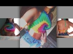 DIY~ Halter Tie-Back Crop Top Out of an Old T-Shirt☼