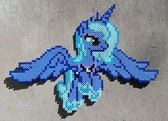 MLP Princess Luna Season 1 Perler Bead Art by HexfloogCrafts