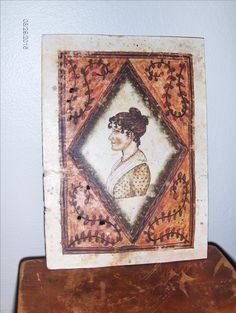 """Watercolor Bookplate of an 1815 style Lady by Steve Shelton.  5 1/4"""" X 7"""".  Contact me for details."""