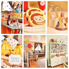 Inspiration for Landon's party.  Curious Gabbie's 2nd Birthday | CatchMyParty.com