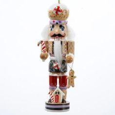 "5"" Gingerbread Kisses Decorative Wooden Nutcracker Christmas Ornament"
