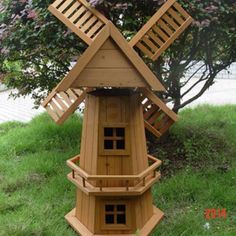 Instant Access To Woodworking Designs, DIY Patterns & Crafts Wooden Windmill, Popsicle Stick Houses, Outdoor Statues, Wood Planters, Garden Planters, Wooden Garden, Le Moulin, Malm, Woodworking Projects Plans