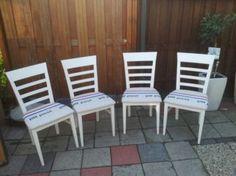 4 stoelen met ptt post stof! - Stoelen - Marktplaats.nl