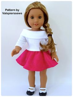 Amazing Photo of American Girl Doll Sewing Patterns American Girl Doll Sewing Patterns Doll Clothes Patterns Valspierssews Skater Skirt Doll Clothes Ropa American Girl, American Girl Crafts, American Doll Clothes, American Girl Dolls, Bag Sewing, Sewing Doll Clothes, Girl Doll Clothes, Free Sewing, Barbie Clothes