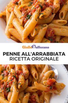 Penne Alla Vecchia Bettola - Pasta in Vodka Sauce - Eating European Pasta Recipes, Diet Recipes, Cooking Recipes, Healthy Recipes, Cooking Ideas, Ravioli, Falafel, Gastronomia, Chowders