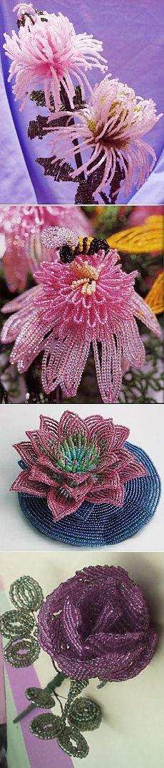 Цветы из бисера — мастер-класс   iBud.ua