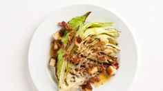 This Grilled Cabbage is dressed with a warm, savory bacon vinaigrette.