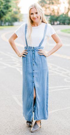 Penland Chambray Maxi Skirt