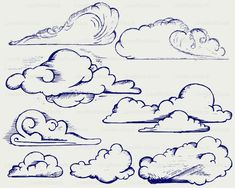 Cartoon Clouds, Cartoon Art, How To Draw Braids, Cloud Art, File Image, Silhouette, Album, Doodle Drawings, Painting Inspiration