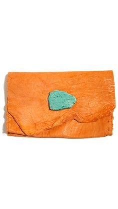 Soft Leather Wallet/Clutch - Salmon