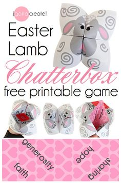 """#Easter Lamb chatterbox or """"cootie catcher"""" game - CUTE! 