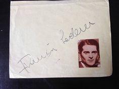 FRANCIS LEDERER - THE RETURN OF DRACULA ACTOR - SIGNED VINTAGE PAGE | eBay