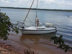 Macgregor 26S, 1991 sailboat. good example of what a macgregor 26 is all about. The bimini on this one is set at a nice height so as to not spoil the lines