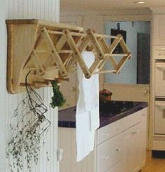 Laundry Room Ideas : Clothes Drying Rack - Wall Mounted