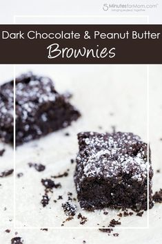 Dark Chocolate and Peanut Butter Brownies Recipe