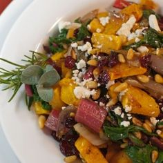 Roasted Butternut Squash with Chard by AFamilyFeast