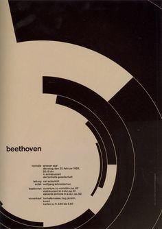 Josef Muller Brockman – Zurich Tonhalle Concert poster,1955