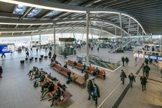 Image 6 of 17 from gallery of Utrecht Central Station / Benthem Crouwel Architects. Photograph by Jannes Linders Central Station, Bus Station, Utrecht, Dezeen Architecture, High Speed Rail, Roof Covering, Steel Structure, Flat Roof, Transportation