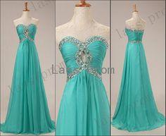 Custom Made A line Sweetheart Floor Length Prom Dresses, Long Dresses for Prom 2014, Cheap Blue Prom Dresses