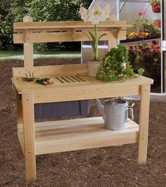 Potting Table - Ohio Hardwood Furniture