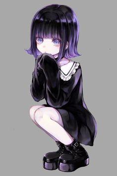 soooooooooooooo cute i love it Emo Anime Girl, Pretty Anime Girl, Anime Child, Anime Neko, Kawaii Anime Girl, Beautiful Anime Girl, Manga Girl, Manga Anime, Arte Emo