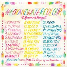 Fox & Hazel: June Watercolour Challenge