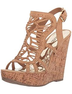ce503dc3ce Women's Banjo Wedge Sandal Nude Sandals, Platform Wedge Sandals, Black Platform  Wedges, Wedge