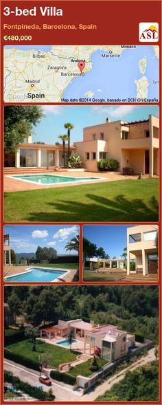 3-bed Villa in Fontpineda, Barcelona, Spain ►€480,000 #PropertyForSaleInSpain
