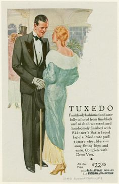 Man and woman in evening attire, 1931