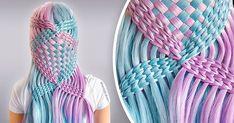Basket Weave Braid, Basket Weaving, Hair Regrowth, Hair Transformation, Knit Patterns, Easy Hairstyles, That Look, Braids, Long Hair Styles