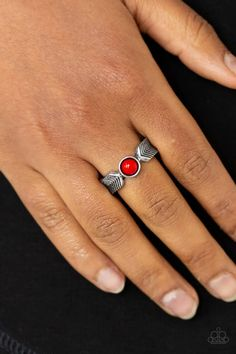 Paparazzi Accessories - Awesomely ARROW-Dynamic - Red Ring Paparazzi Accessories, Paparazzi Jewelry, Red Rings, Arrow Ring, Red Chevron, Arrow Design, Ring Designs, Fashion Jewelry, Bling